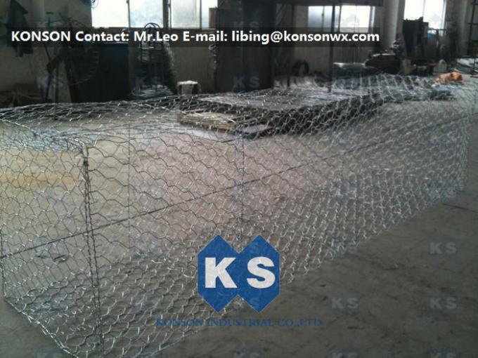 High Strength Gabion Box Basket 3x1x1 Wire Mesh Cage For Reinforce Fabric