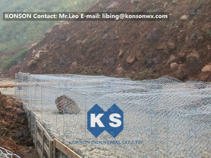 Zinc / Aluminium Alloy Wire Hexagonal Chicken Wire Mesh For Platering , Gabion Boxes