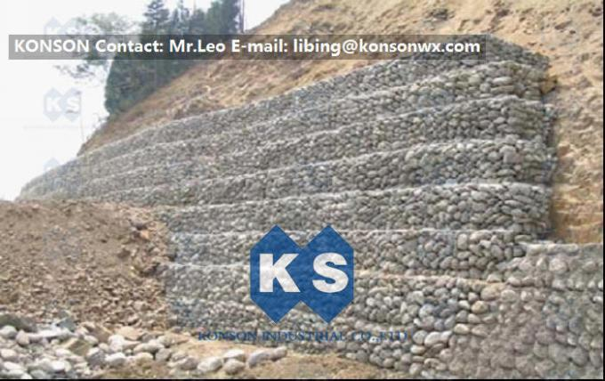 Defense Gabion Retaining Wall Hexagonal Wire Mesh with Galvanized Wire 2.7MM