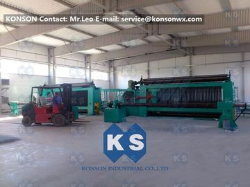 Chiny Twisting Metal Wire Hexagonal Gabion Mesh Weaving Machine , 4300mm Double Rack Drive dostawca