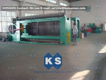 Chiny Galvanized And Zinc Coated Automatic Gabion Netting Machine , Max width 4000mm dostawca