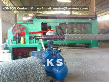 Chiny Automatic Gabion Box Machine Making Hexagonal Fence With Automatic Stop System dostawca