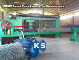 Chiny Automatic Heavy Duty Hexagonal Mesh Machine for Making Stone Gabion Netting dostawca