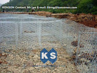 Chiny Flexible Steel Wire Mesh Gabion Rock Baskets Mountain Protect Mesh 80mm x 100mm dostawca